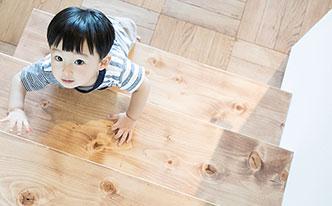 あたたかみのある無垢の床