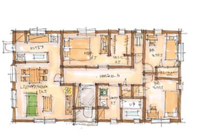 BROOKLYN FLAT 25.8坪プランの間取りイメージ図