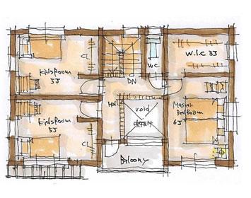 BROOKLYN Natural 30坪プランのイメージ図 2F