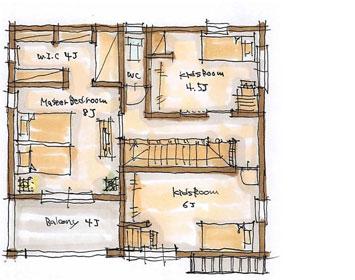 BROOKLYN Natural 36坪プランのイメージ図 2F