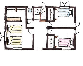 Swedish Style 30坪プランのイメージ図 2F