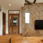 FIX窓がついた木製親子ドア