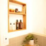洗面横壁埋込のニッチ収納