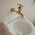 かわいい小ぶりな手洗い器