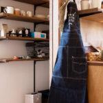 キッチンにかけられたエプロン
