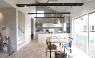 大屋根が印象的な、シンプルで美しいスカンジナビアスタイルのお家