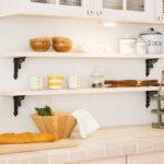 白いキッチン飾り棚