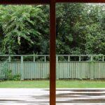 お庭と調和したウッドデッキ