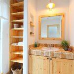 収納の多い洗面台