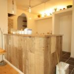 腰壁かわいいカフェ風キッチン