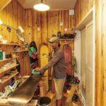 作業部屋の造作棚
