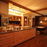 木製のキッチン台