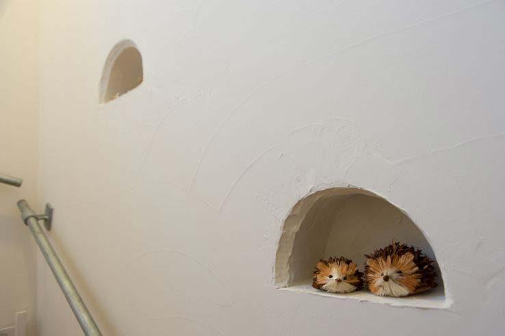 塗り壁でおしゃれな空間