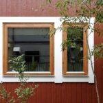 形の違う2つの窓