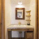 木の素材を生かした洗面台